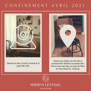 Covid-19: Confinement Avril 2021